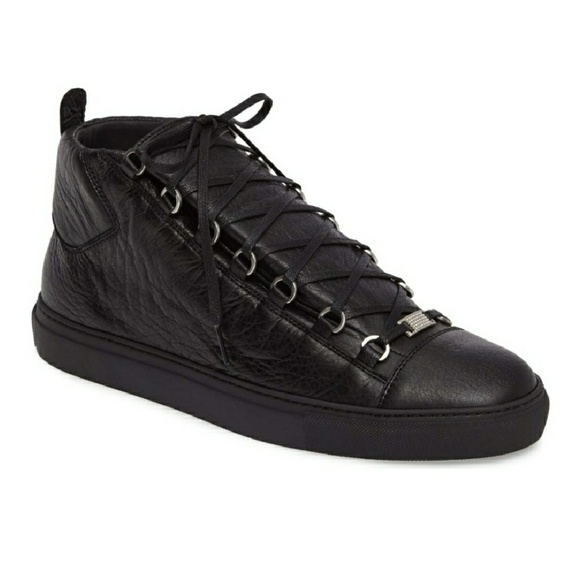 c11da4f28f35 Balenciaga Other - Balenciaga Black Arena Leather High Top Sneakers